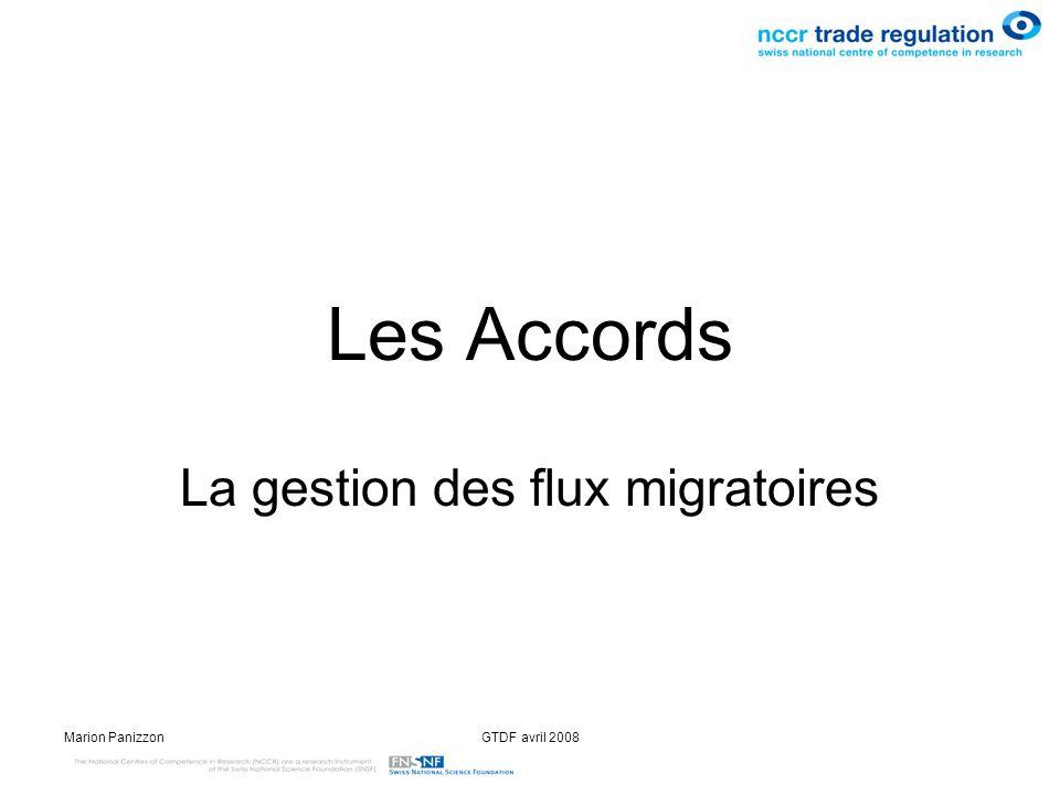La gestion des flux migratoires