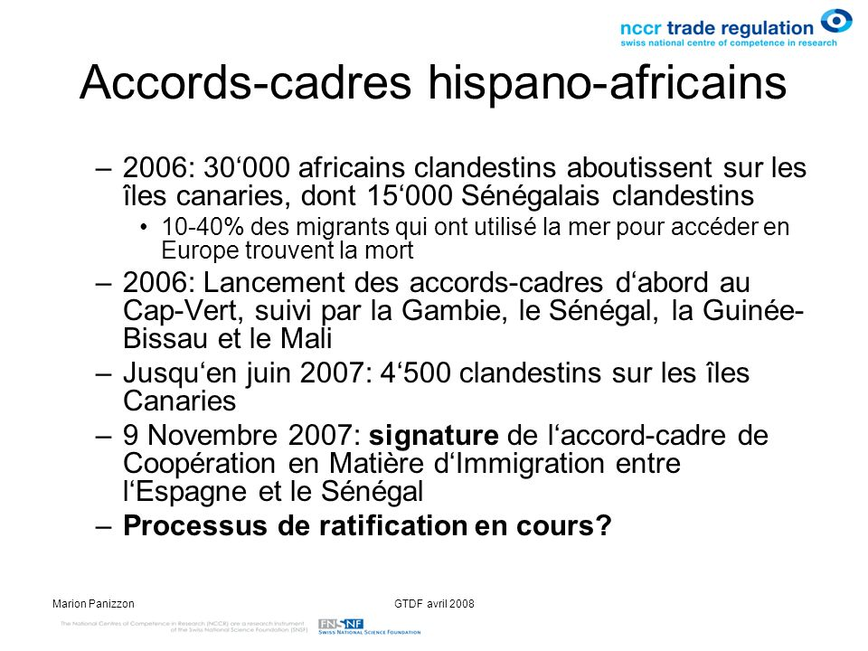 Accords-cadres hispano-africains