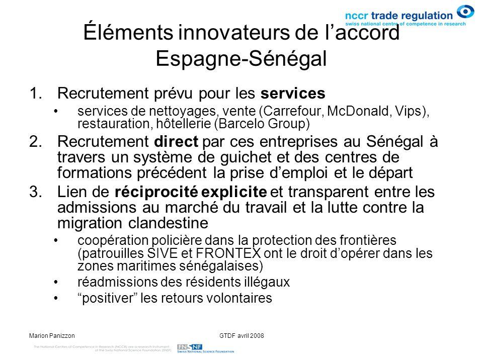 Éléments innovateurs de l'accord Espagne-Sénégal