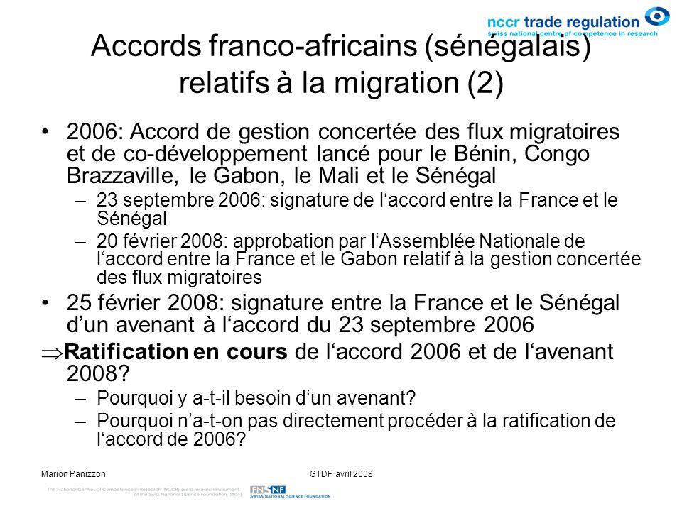 Accords franco-africains (sénégalais) relatifs à la migration (2)