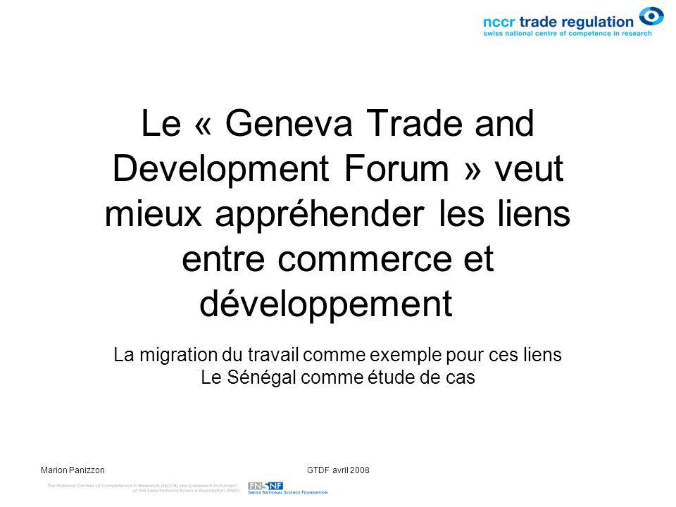 Le « Geneva Trade and Development Forum » veut mieux appréhender les liens entre commerce et développement