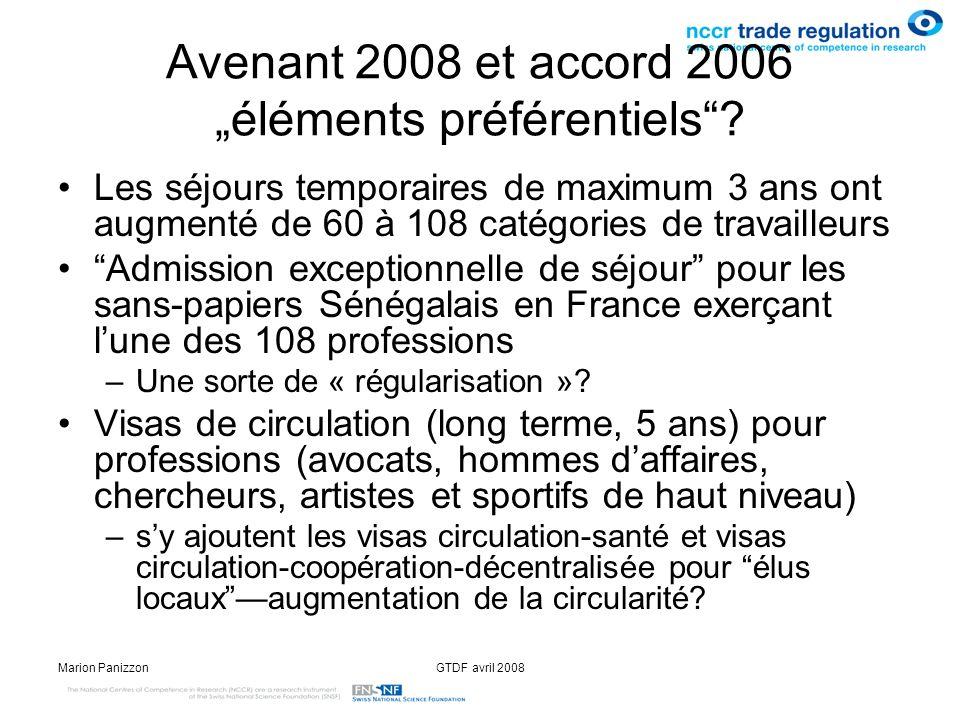 """Avenant 2008 et accord 2006 """"éléments préférentiels"""