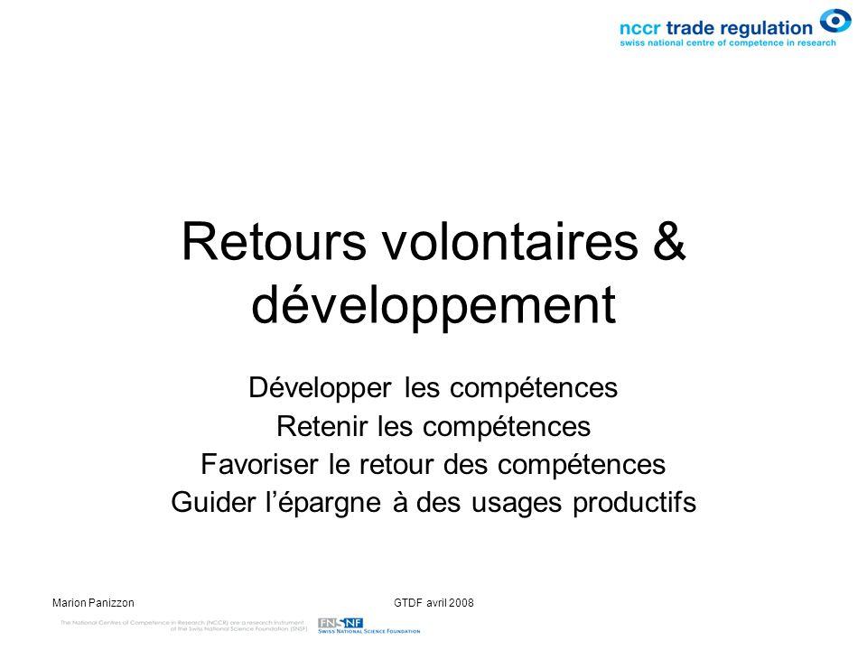Retours volontaires & développement