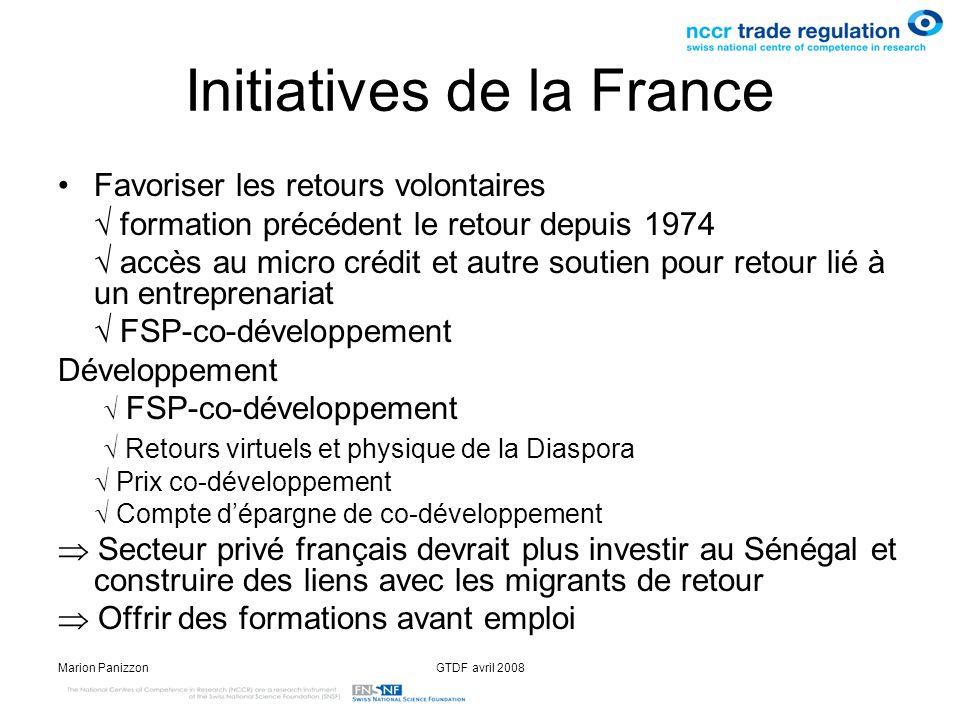 Initiatives de la France