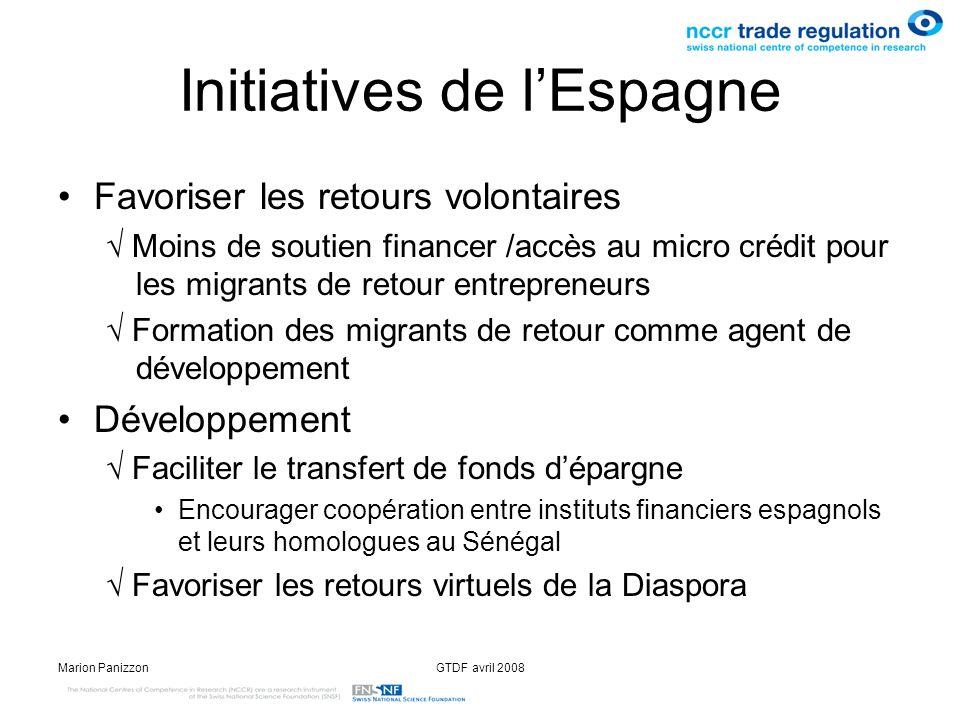 Initiatives de l'Espagne