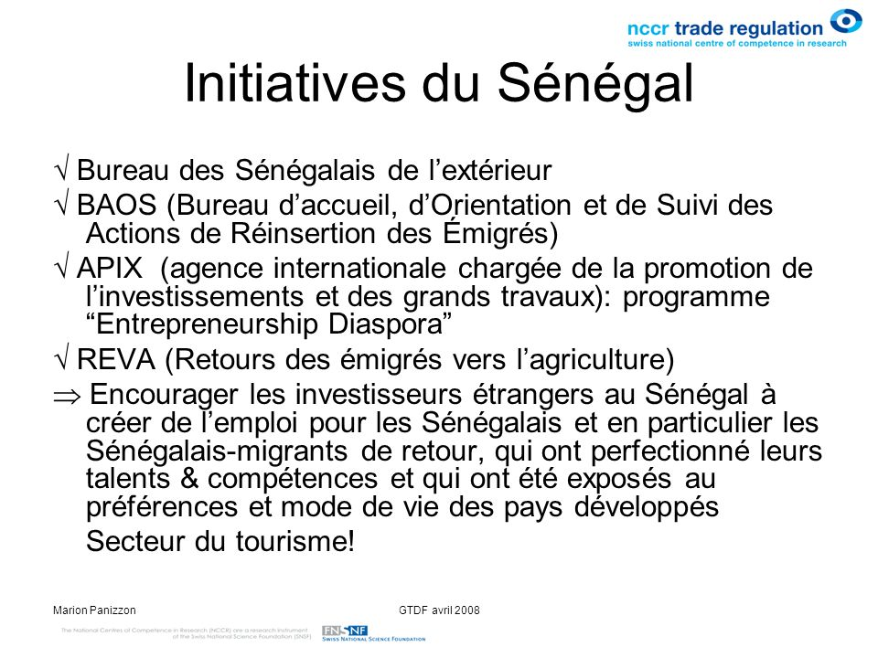 Initiatives du Sénégal