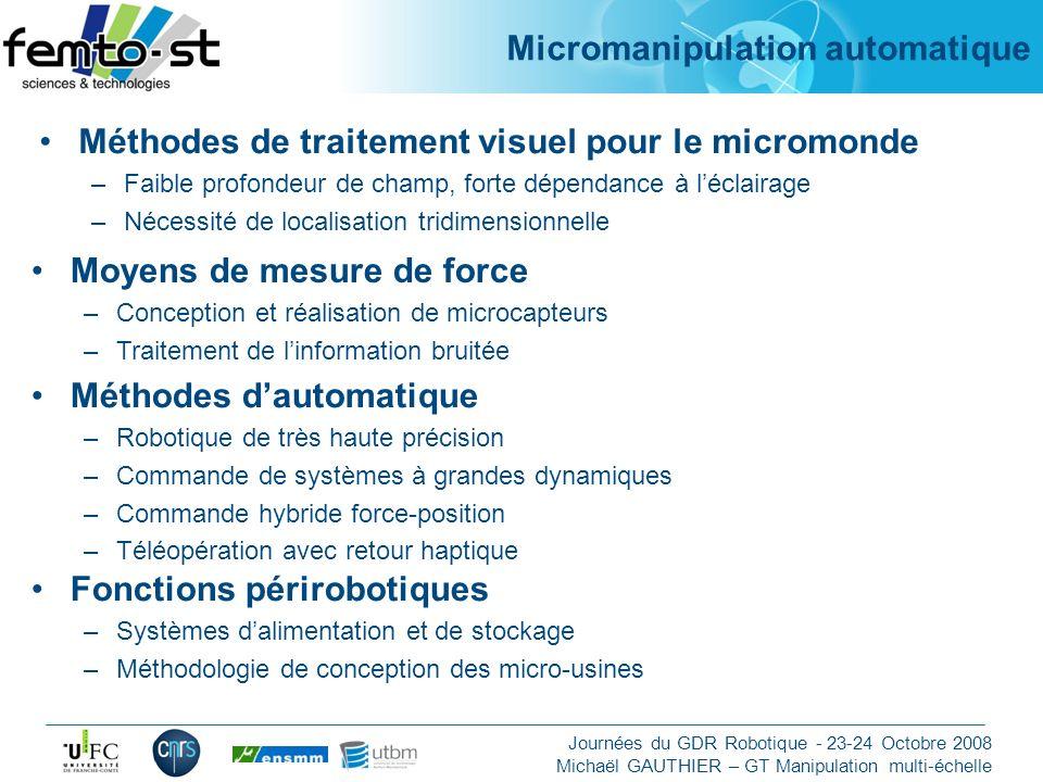 Micromanipulation automatique