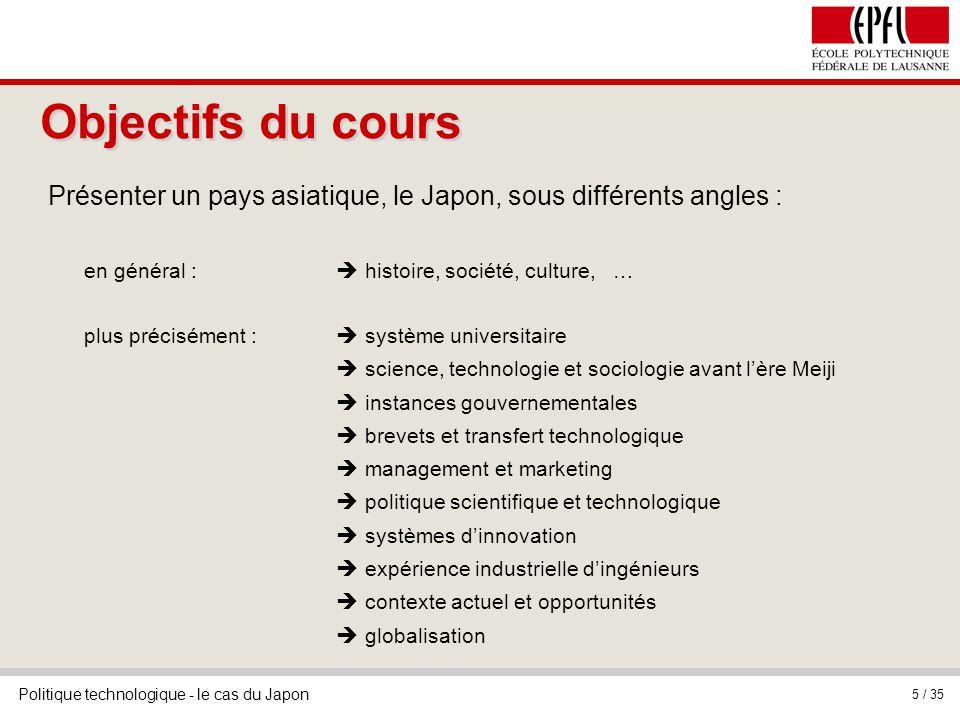 Objectifs du cours Présenter un pays asiatique, le Japon, sous différents angles : en général :  histoire, société, culture, …