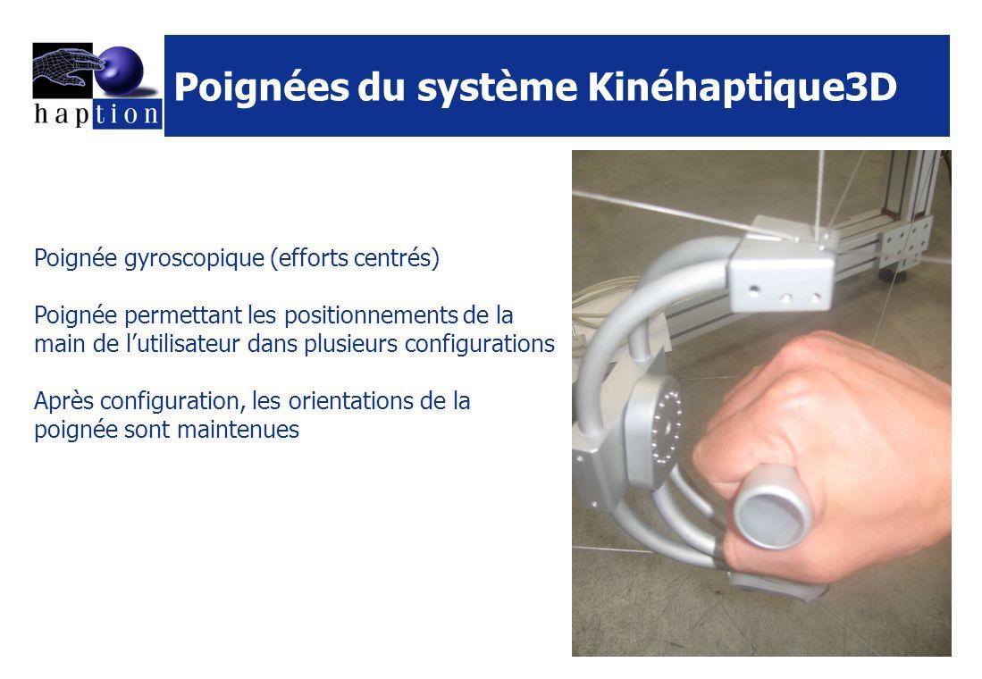 Poignées du système Kinéhaptique3D