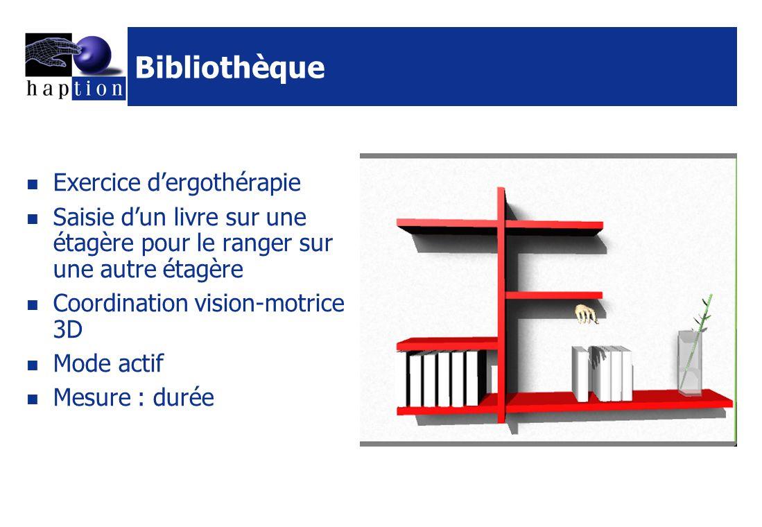 Bibliothèque Exercice d'ergothérapie