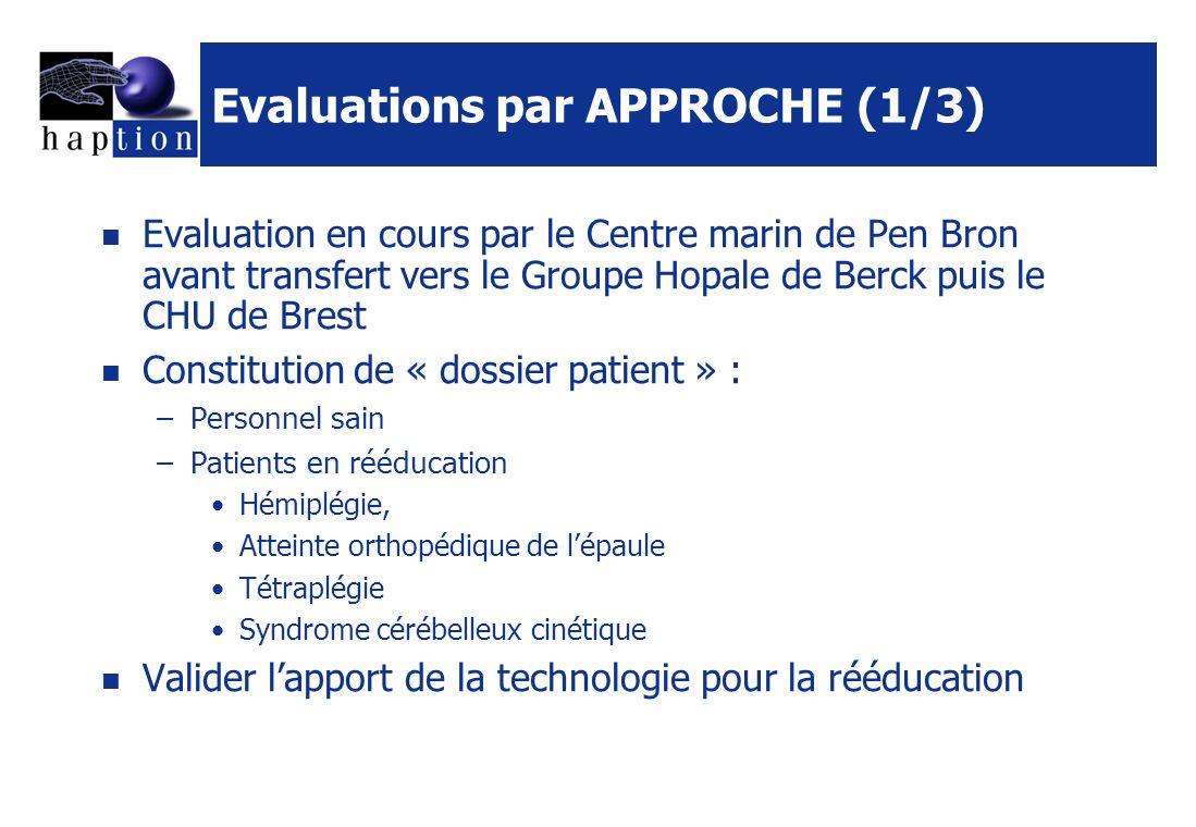 Evaluations par APPROCHE (1/3)