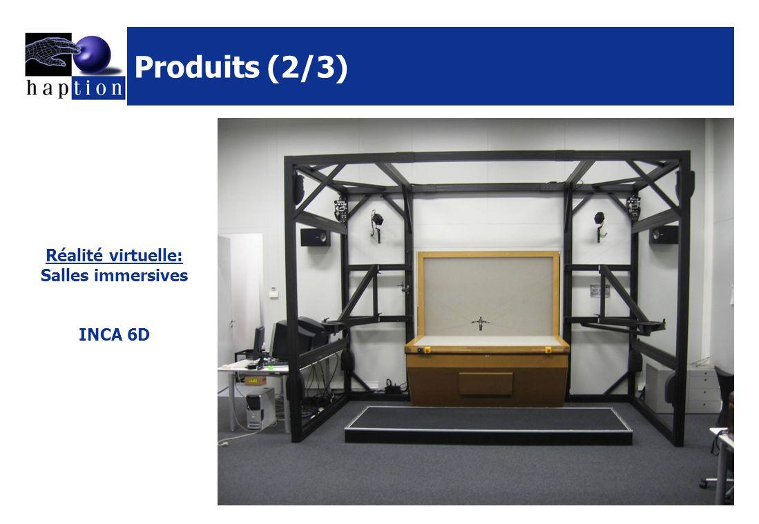 Produits (2/3) Réalité virtuelle: Salles immersives INCA 6D