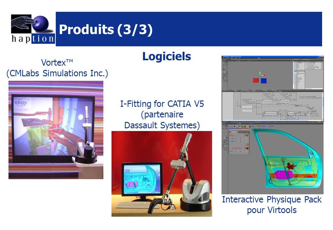 Produits (3/3) Logiciels Vortex™ (CMLabs Simulations Inc.)