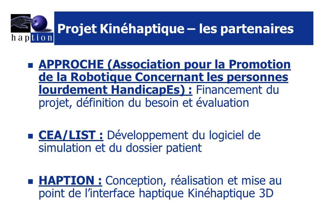 Projet Kinéhaptique – les partenaires
