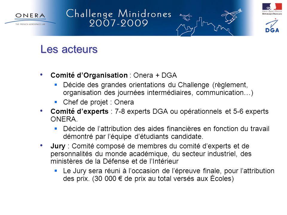 Les acteurs Comité d'Organisation : Onera + DGA