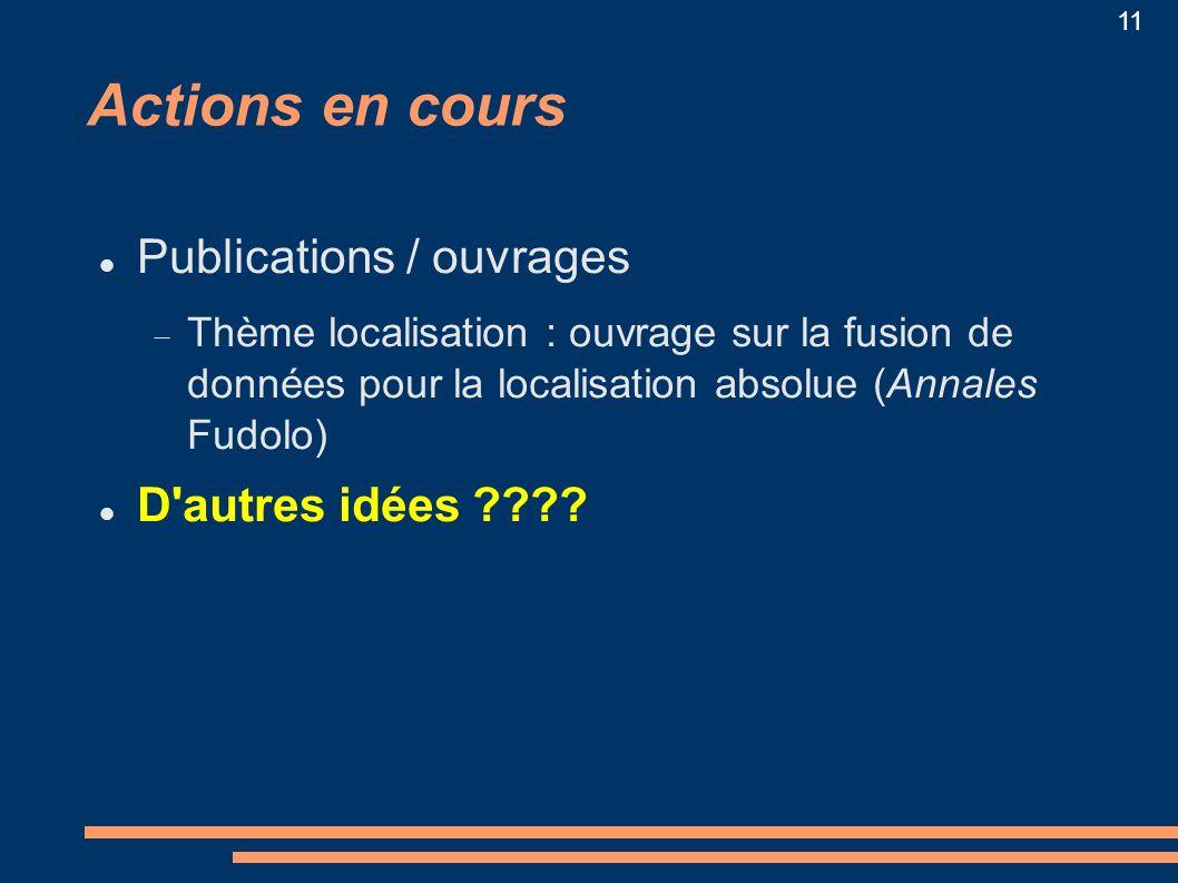 Actions en cours Publications / ouvrages D autres idées