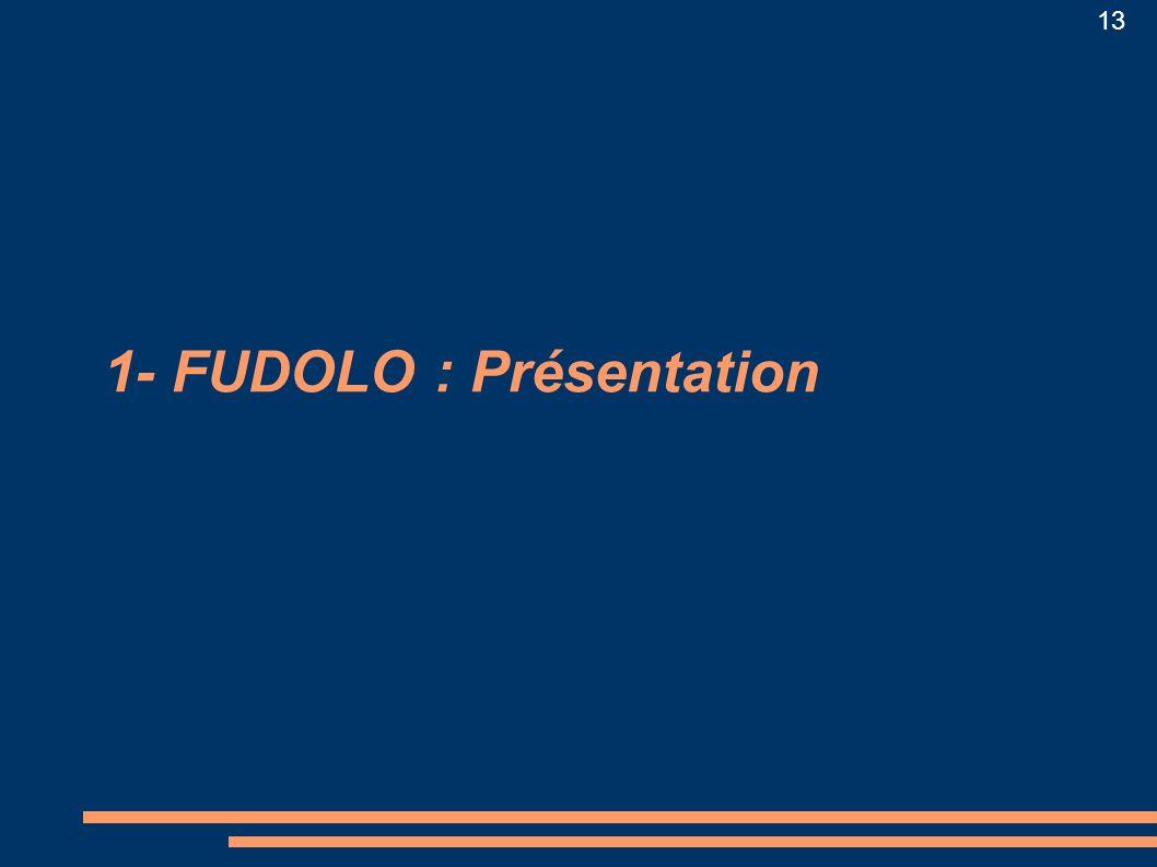 1- FUDOLO : Présentation