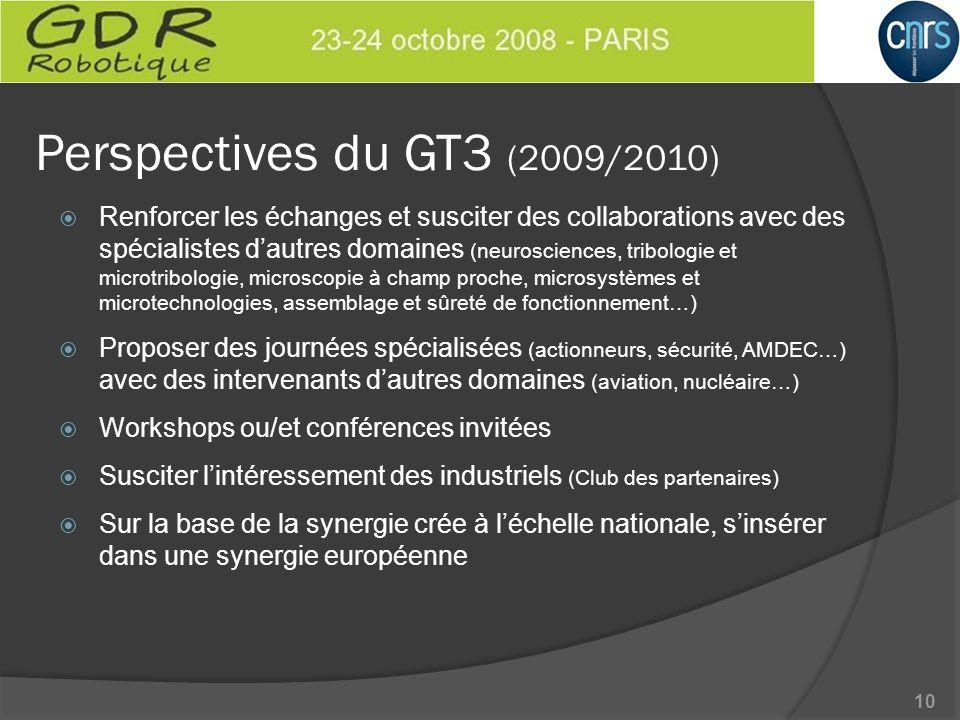 Perspectives du GT3 (2009/2010)