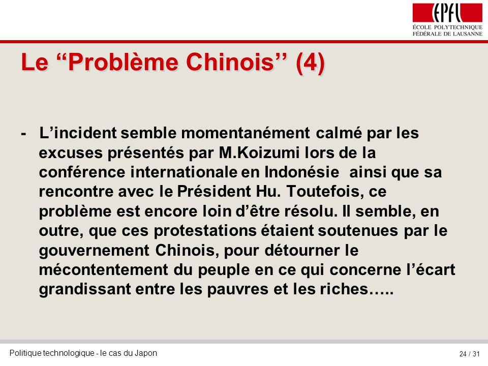 Le Problème Chinois'' (4)