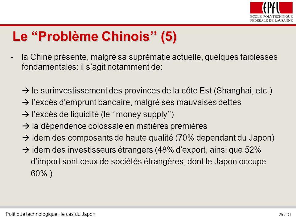Le Problème Chinois'' (5)