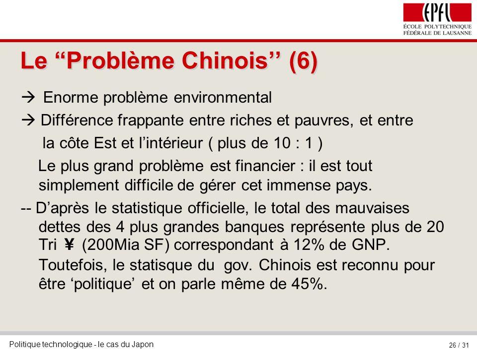 Le Problème Chinois'' (6)