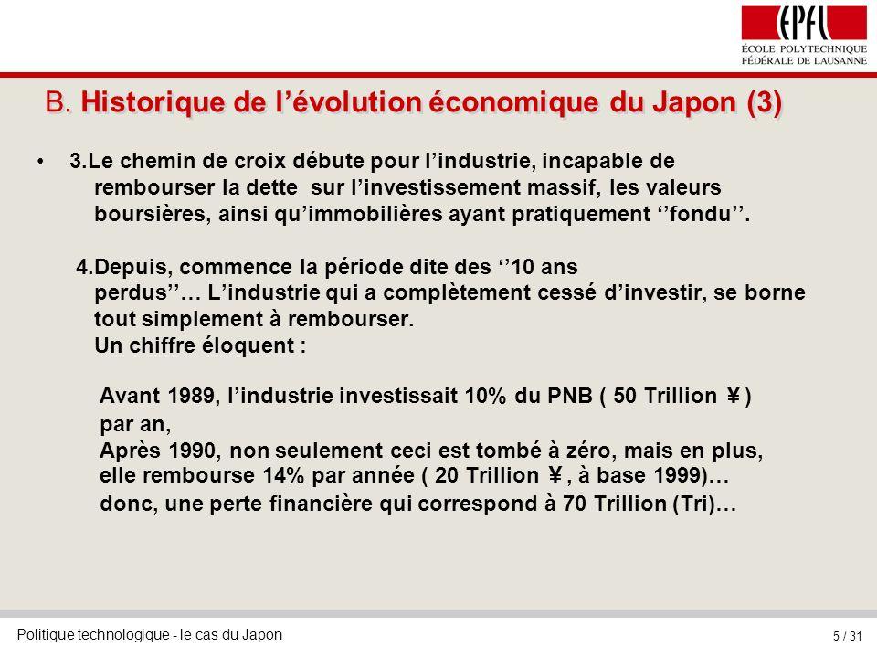 B. Historique de l'évolution économique du Japon (3)