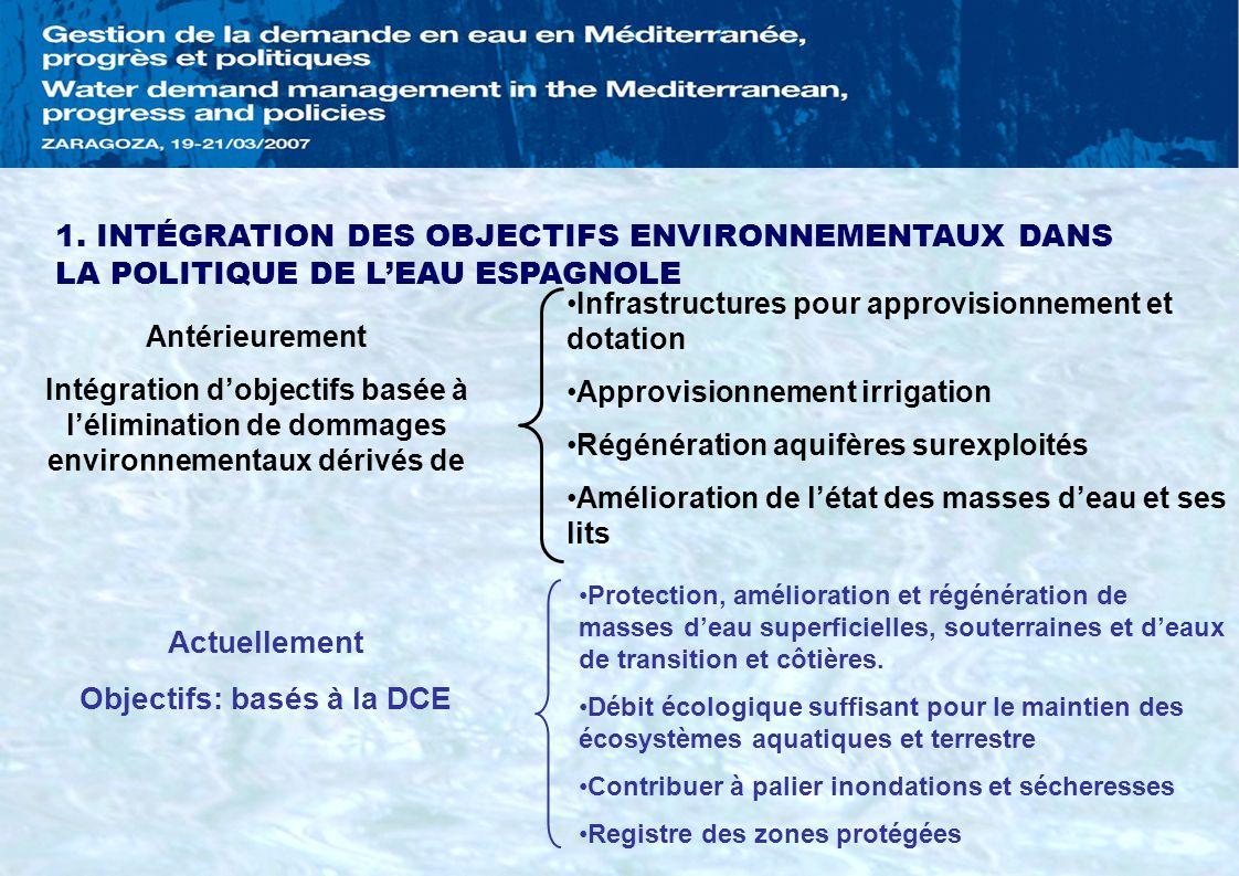 Objectifs: basés à la DCE