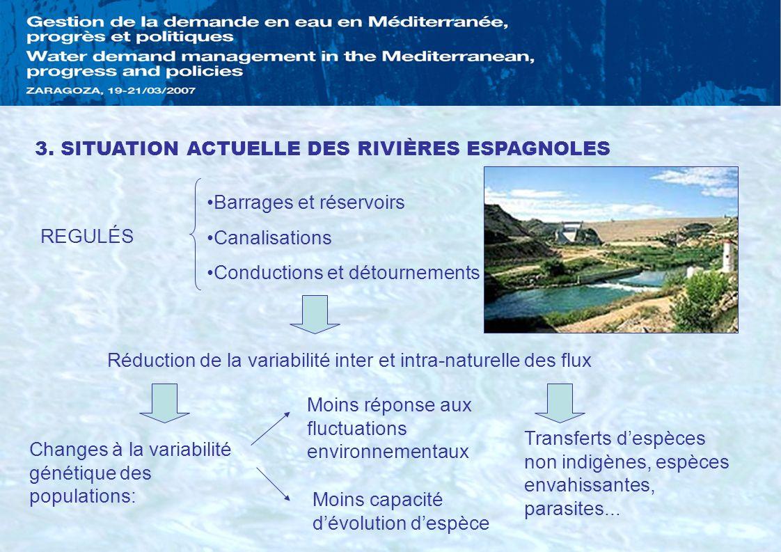 3. SITUATION ACTUELLE DES RIVIÈRES ESPAGNOLES