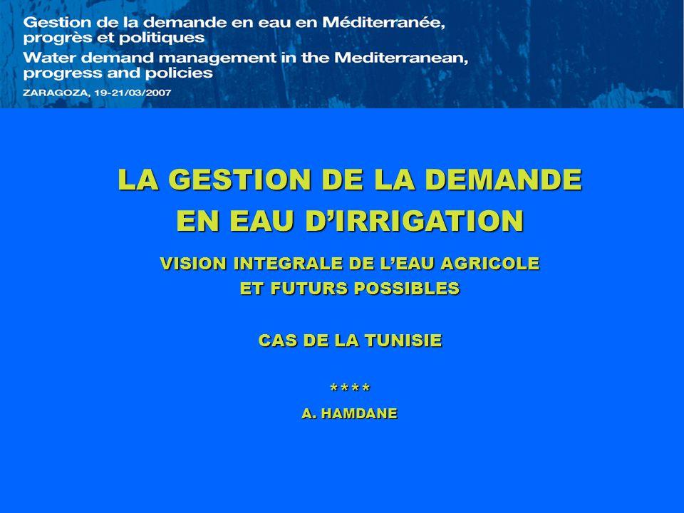 LA GESTION DE LA DEMANDE EN EAU D'IRRIGATION