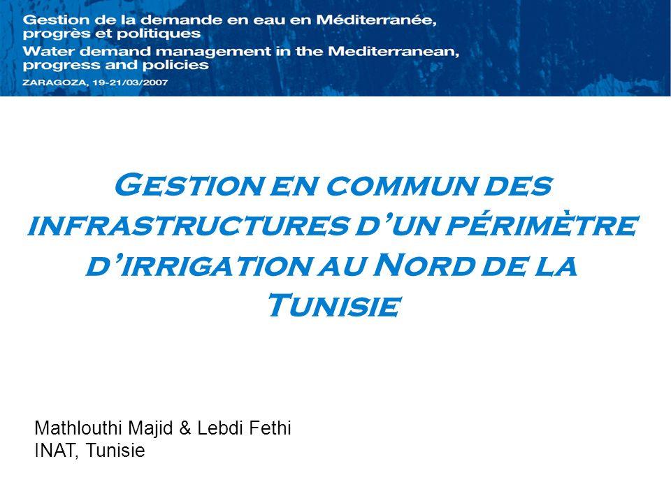 Gestion en commun des infrastructures d'un périmètre d'irrigation au Nord de la Tunisie