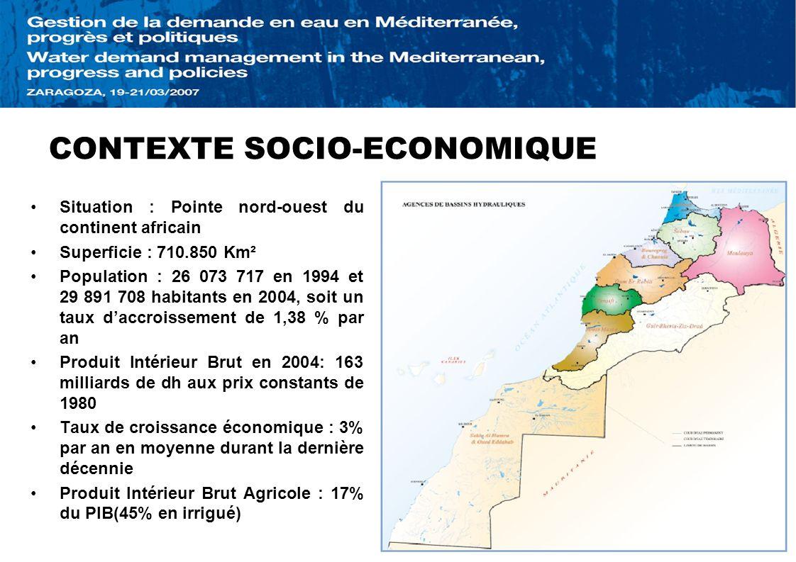 CONTEXTE SOCIO-ECONOMIQUE