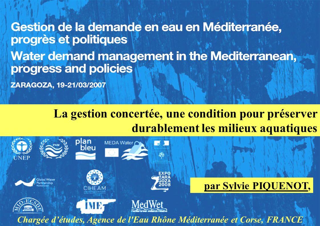 Chargée d'études, Agence de l Eau Rhône Méditerranée et Corse, FRANCE