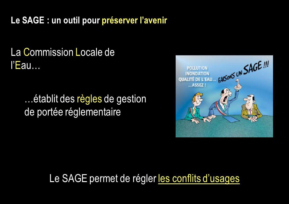 Le SAGE permet de régler les conflits d'usages
