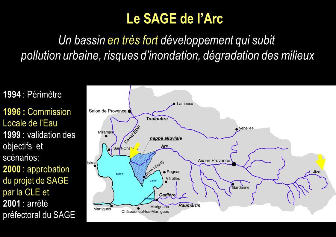 Le SAGE de l'Arc Un bassin en très fort développement qui subit