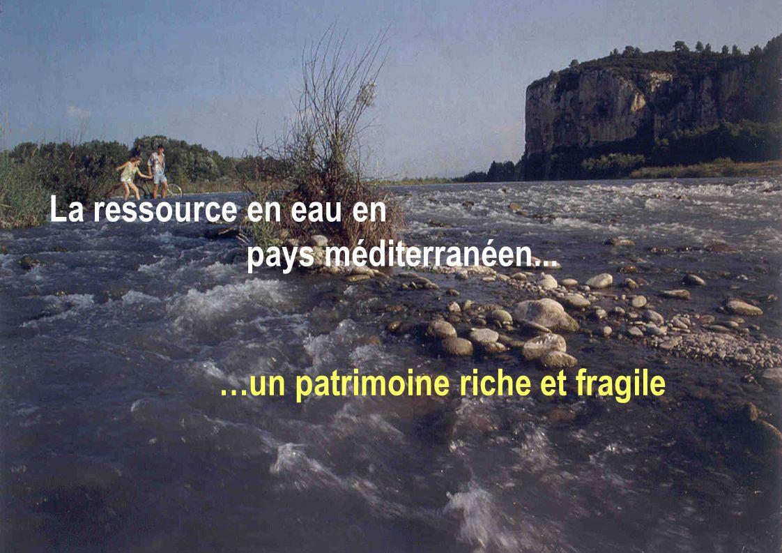 La ressource en eau en pays méditerranéen... …un patrimoine riche et fragile