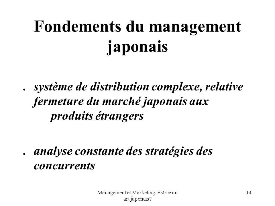 Fondements du management japonais