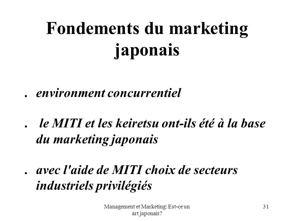 Fondements du marketing japonais