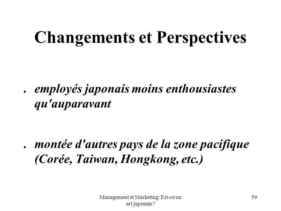 Changements et Perspectives