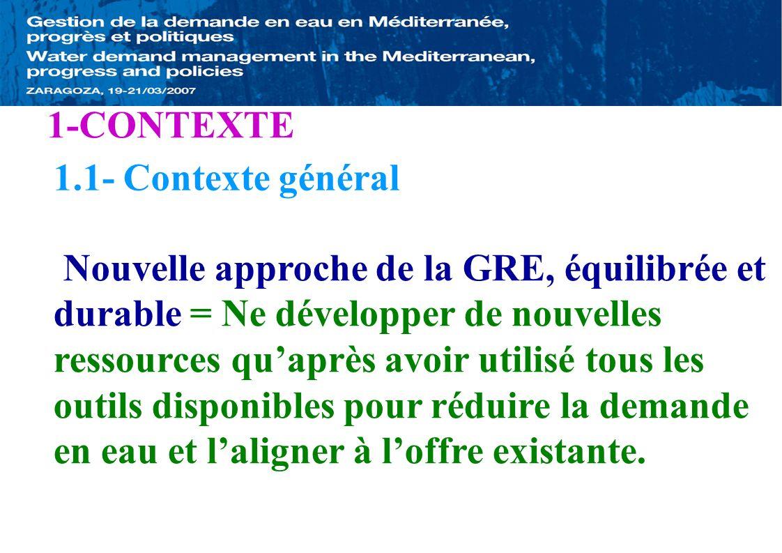 1-CONTEXTE 1.1- Contexte général.