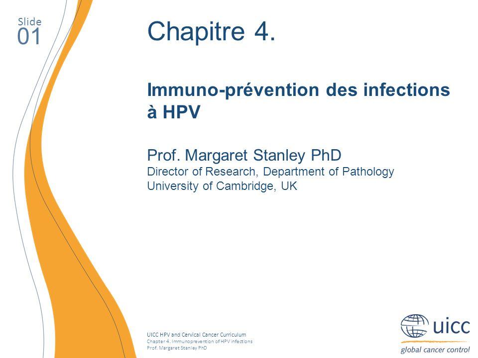Chapitre 4. 01 Immuno-prévention des infections à HPV