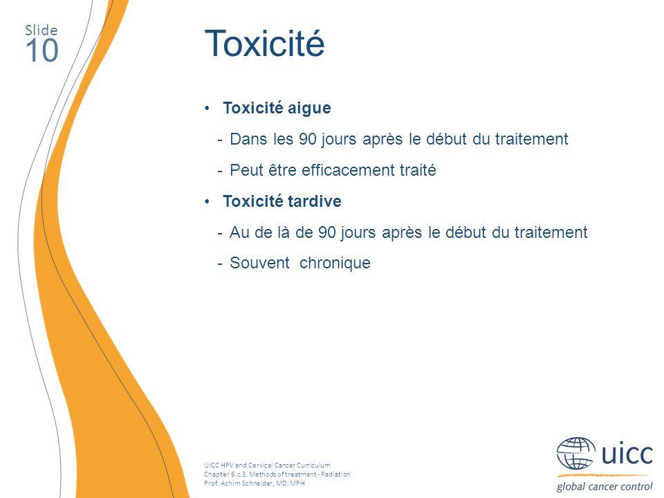 Toxicité 10 Slide Toxicité aigue