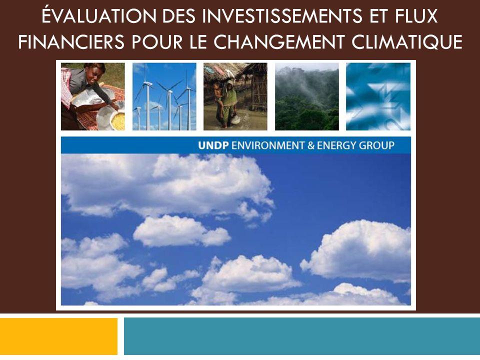 ÉVALUATION DES INVESTISSEMENTS ET FLUX FINANCIERS POUR LE CHANGEMENT CLIMATIQUE