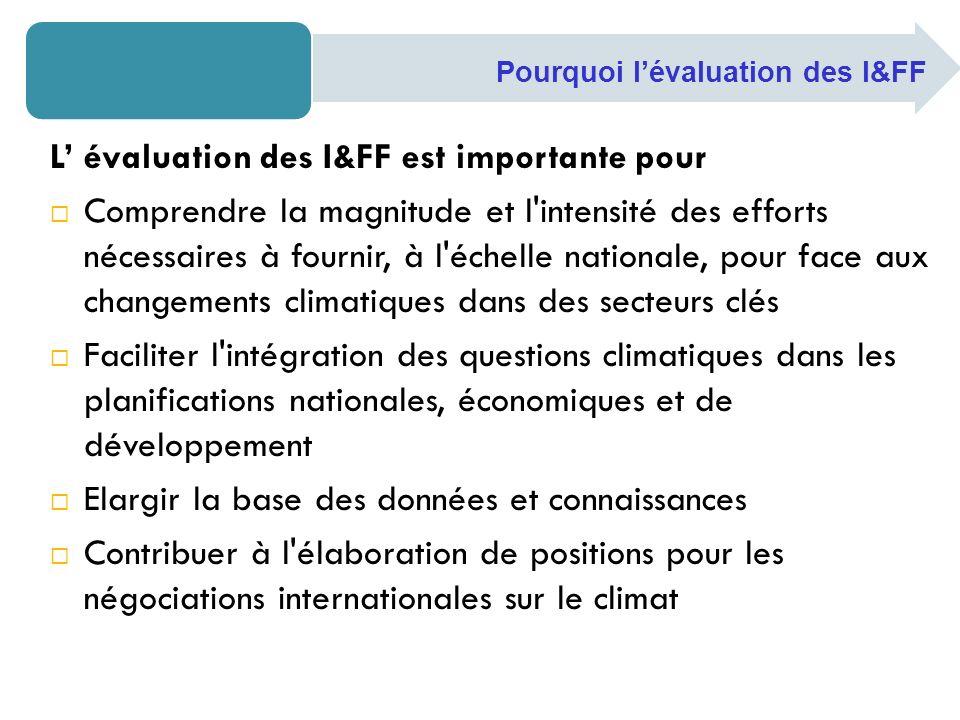 L' évaluation des I&FF est importante pour