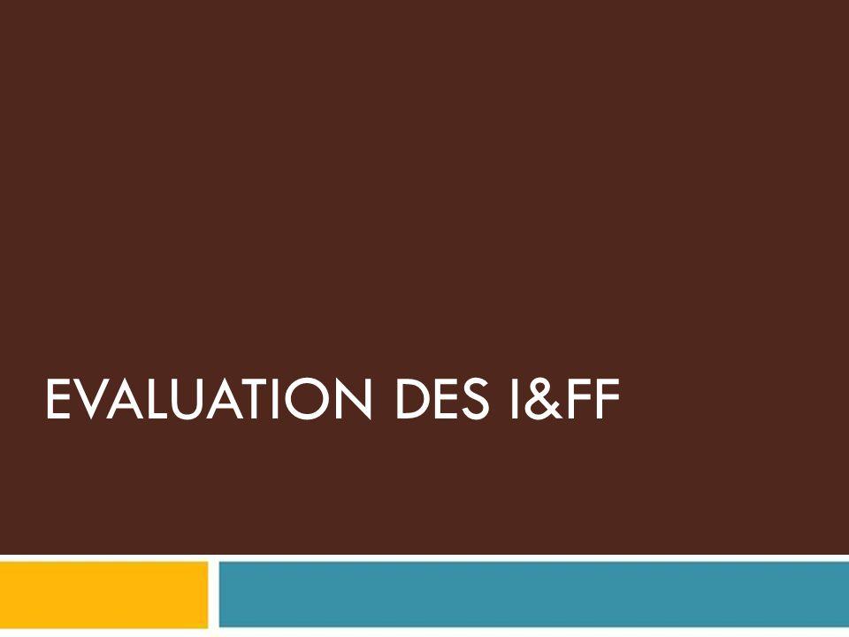 EVALUATION DES I&FF Pour le présentateur: