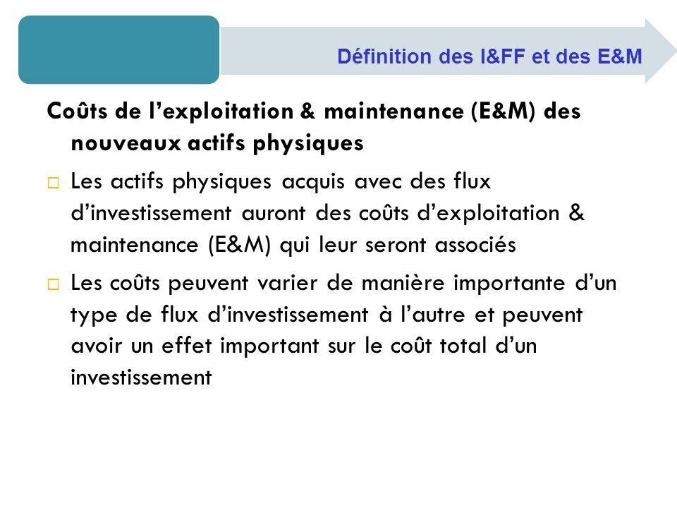 Définition des I&FF et des E&M