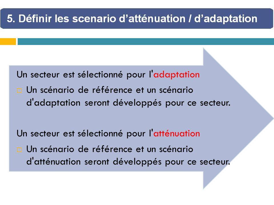 Un secteur est sélectionné pour l adaptation