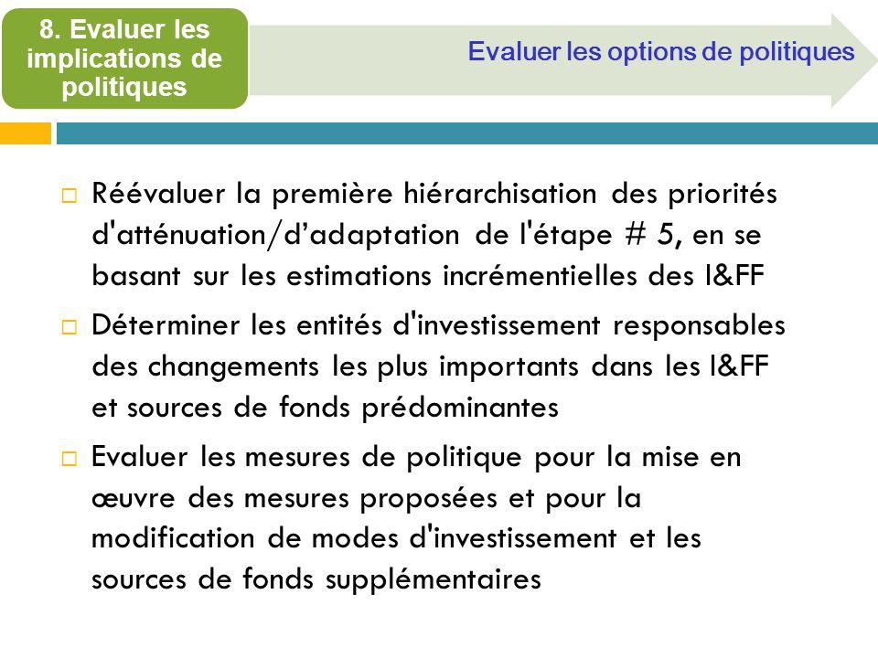8. Evaluer les implications de politiques