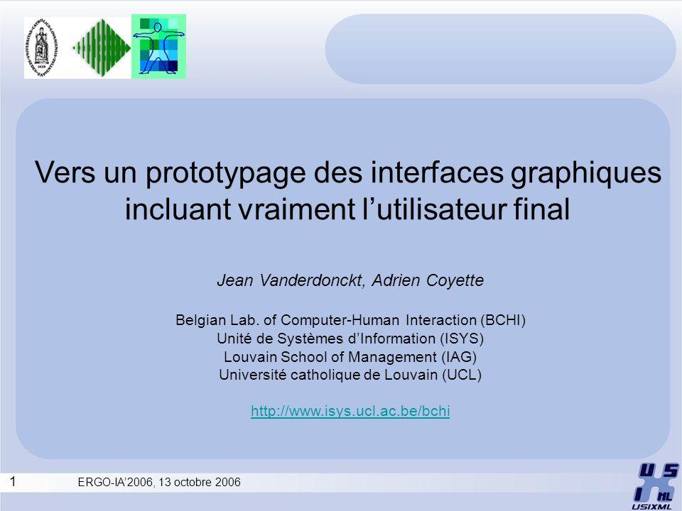 Vers un prototypage des interfaces graphiques incluant vraiment l'utilisateur final