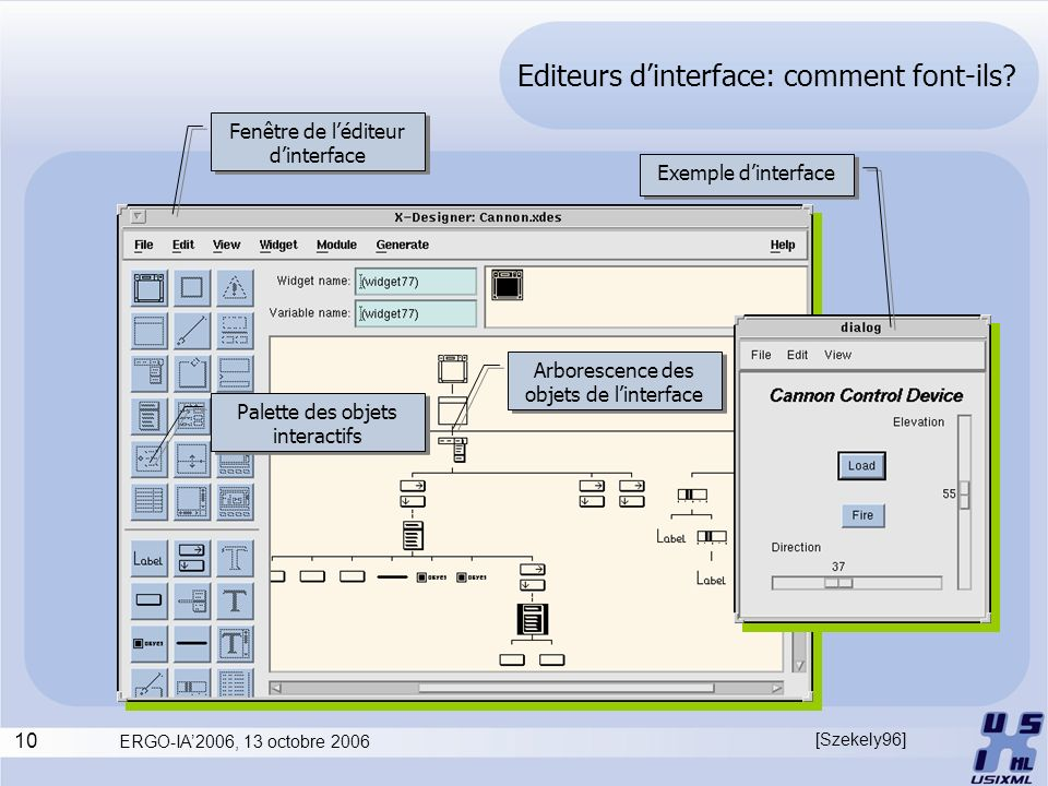 Editeurs d'interface: comment font-ils
