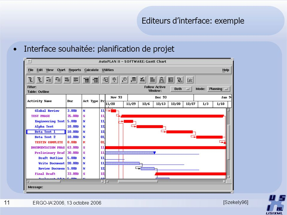 Editeurs d'interface: exemple